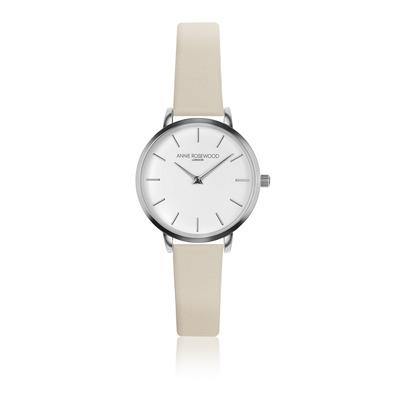 Uhr Unisex Annie Rosewood I Silber-Creme Weiß
