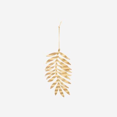 4er-Set Blatt-Ornamenten | Antik Gold