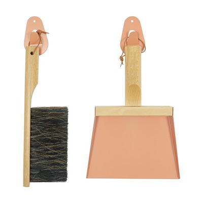 Set of Hand Brush & Dustpan & 2 Wall Hooks | Mr & Mrs Clynk | Peach