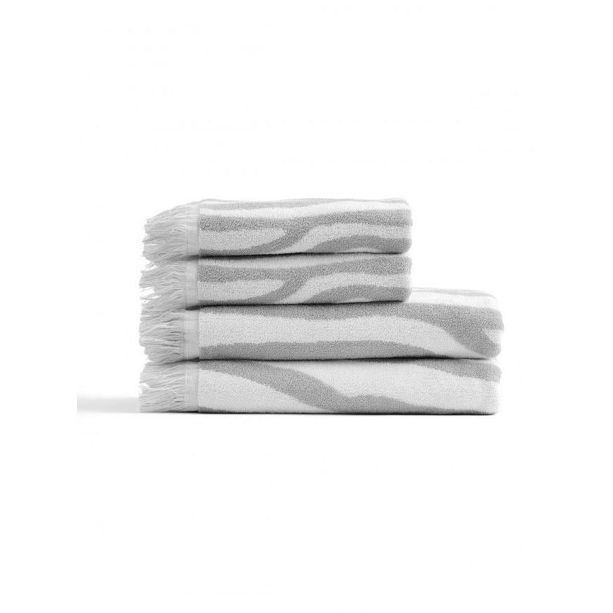Serviettes Willow Blanc & Gris | Set de 4