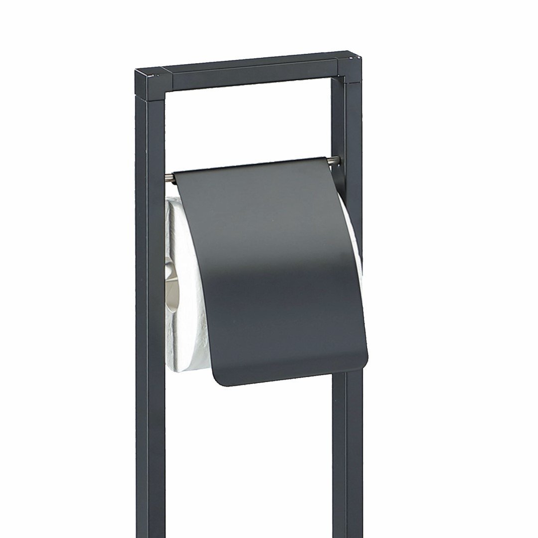 Toilet Brush and Toilet Paper Holder Emori   Black
