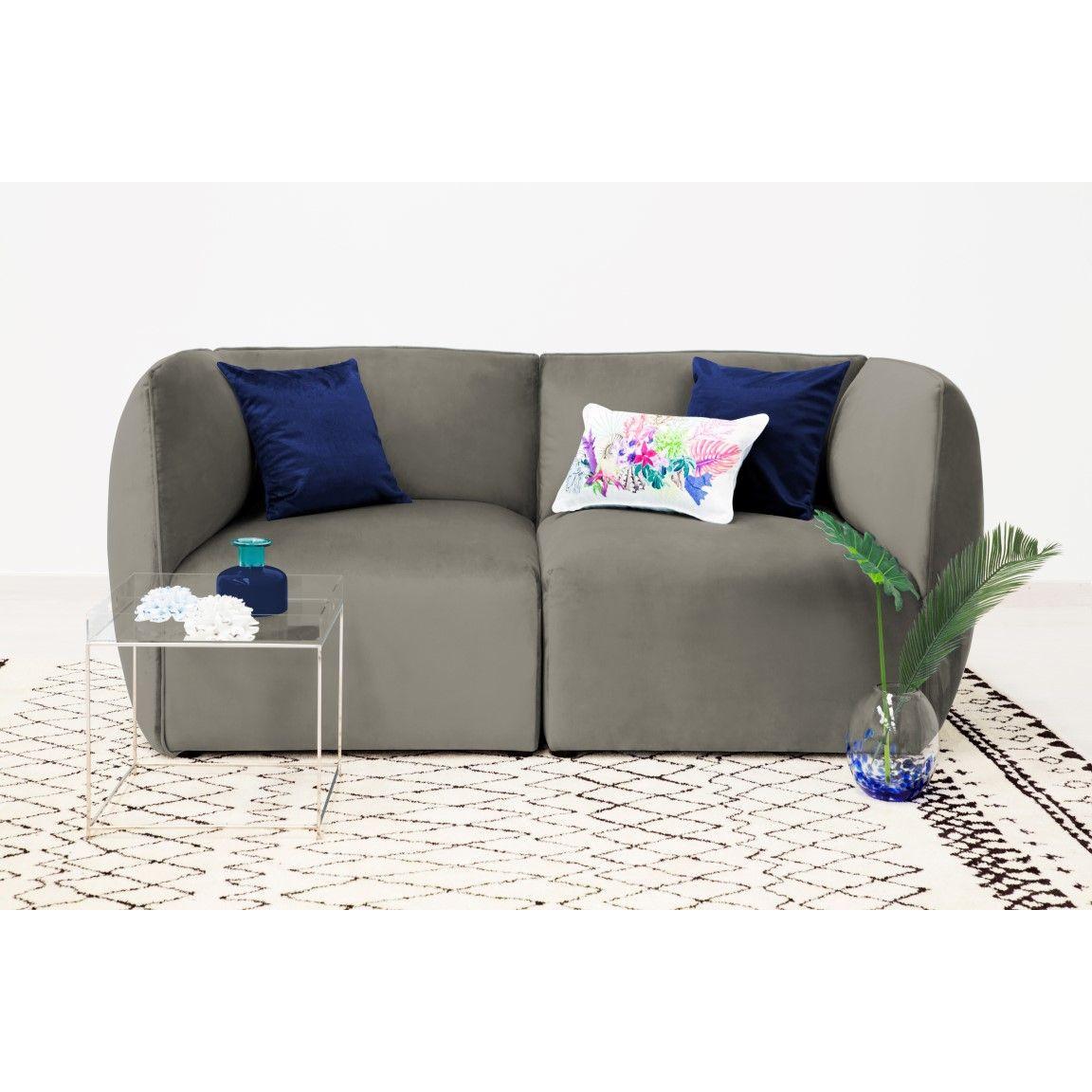 Cube 2-Sitzer-Sofa   Silbergrau