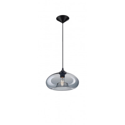 Pendant Light Fumo D 27 cm H 180 cm   Gray Glass
