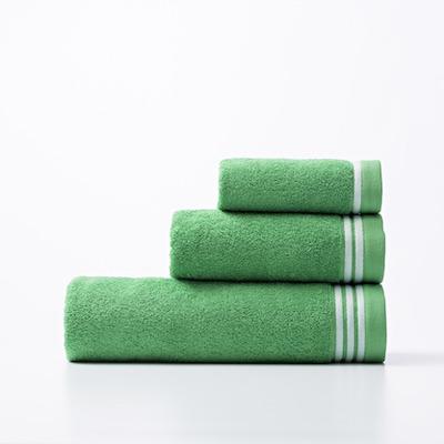 3er-Set Badetücher Rainbow Be I Grün-Weiß