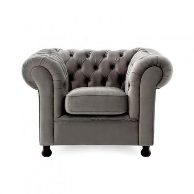 Chesterfield 1 Seater | Silver