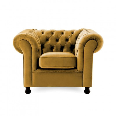 Chesterfield 1 Seater | Mustard