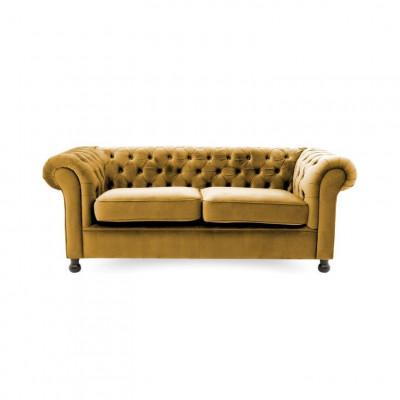 Chesterfield 3 Sitzer | Senf