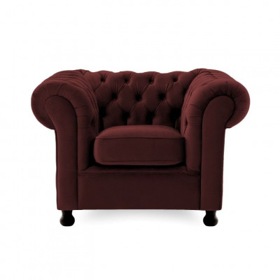 Chesterfield 1 Seater | Burgundy Red
