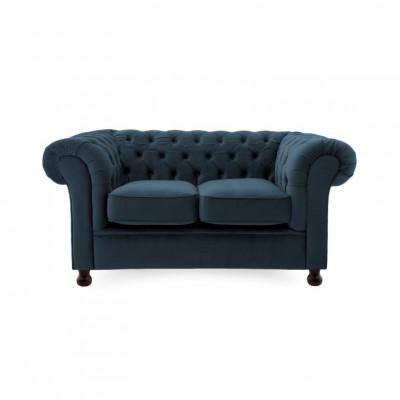 Chesterfield 2 Sitzer | Marineblau