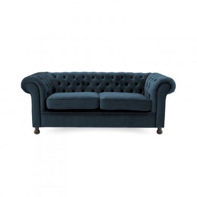 Chesterfield 3 Sitzer | Marine Blau
