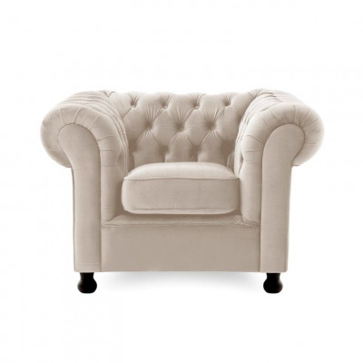 Chesterfield 1 Seater | Silky Grey
