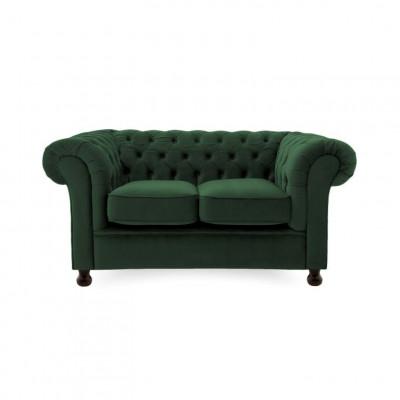 Chesterfield 2 Sitzer | Smaragdgrün