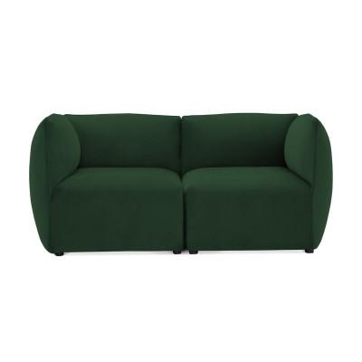 Cube 2-Sitzer-Sofa | Smaragdgrün