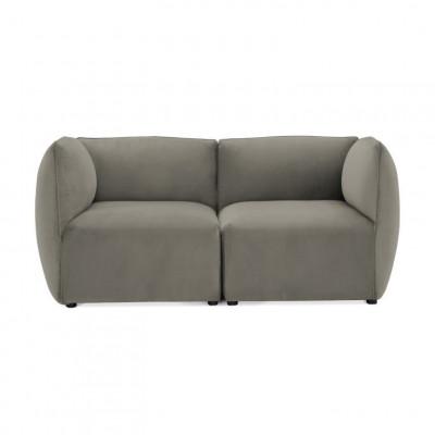 Cube 2-Sitzer-Sofa | Silbergrau