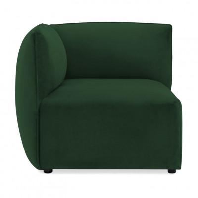 Cube Sofa Left Corner | Emerald Green