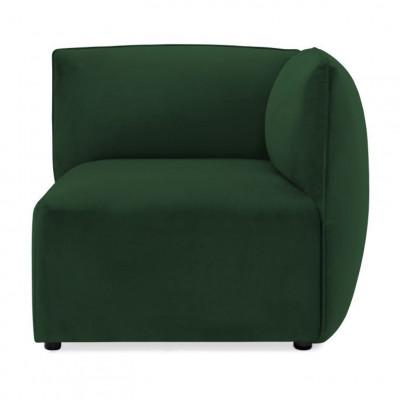 Cube Sofa Right Corner | Emerald Green