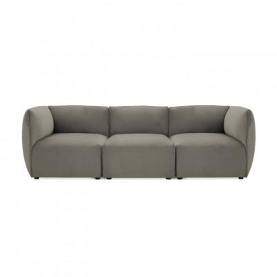 Cube 3-Sitzer-Sofa | Silbergrau