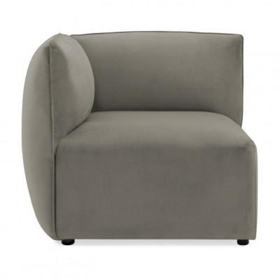 Cube Sofa Left Corner | Silver Grey