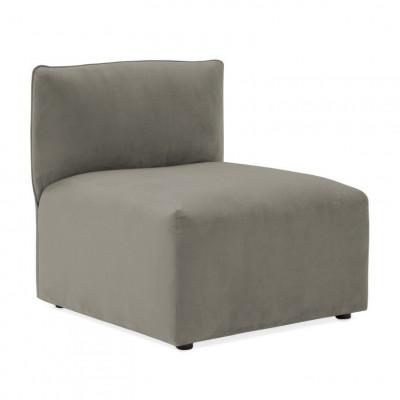 Cube Sofa Extension | Silver Grey