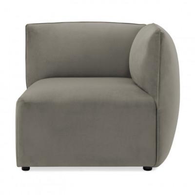 Cube Sofa Right Corner | Silver Grey