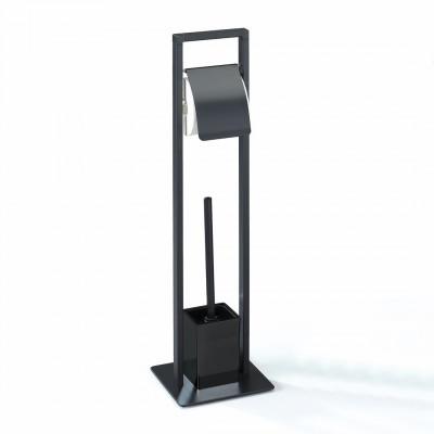 Toilettenbürsten- und Toilettenpapierhalter Emori | Schwarz