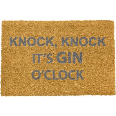 Fußmatte Grau   Knock Knock It's Gin O'Clock