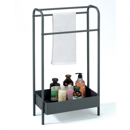 Towel Rack with Shelf Paxton | Anthracite