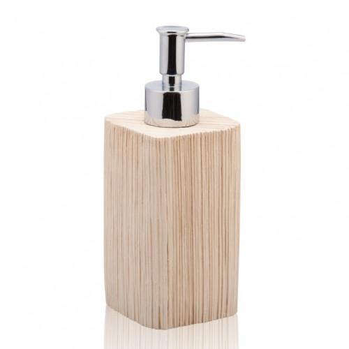Ceramic Soap Dispenser Spa   Light Wood