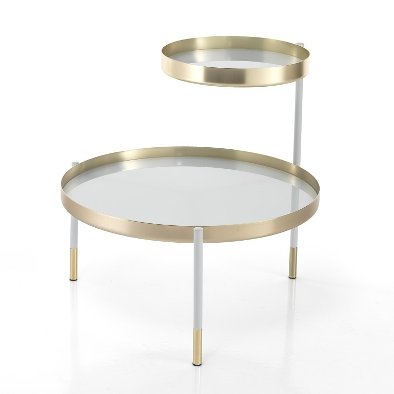 Coffee Table Lincoln   White & Gold