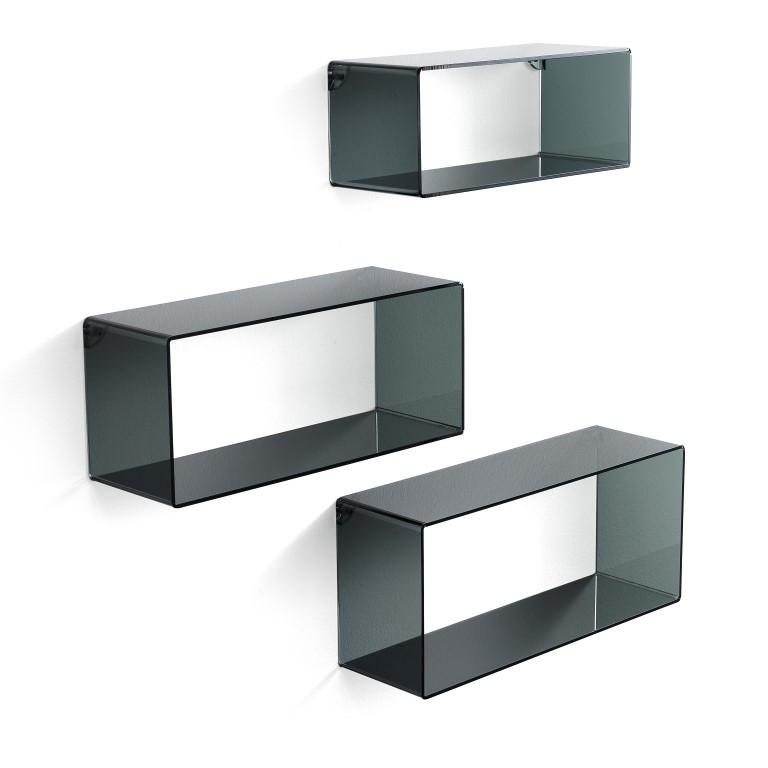 Set of 3 Wall Cubes   Black