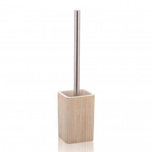 Ceramic Toiletbrush Holder Spa | Light Wood