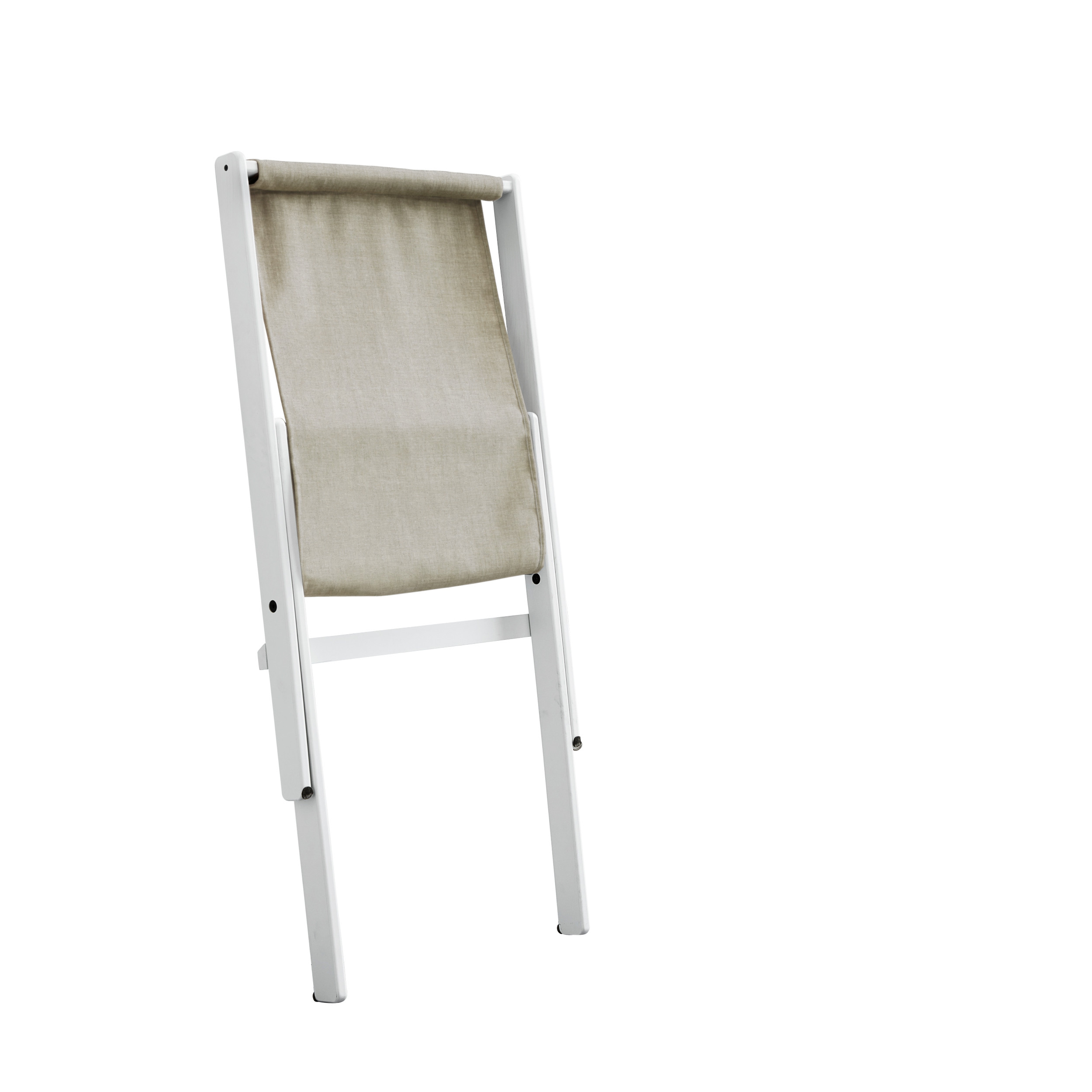 Chair Boogie | White Frame & Linen Seat