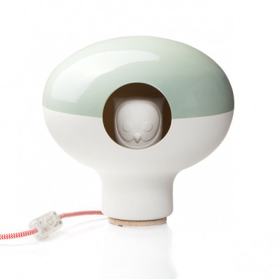 C'est Chouette! lamp Glossy/Biscuit Green