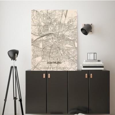 Holzwanddekoration | Stadtplan | Dortmund