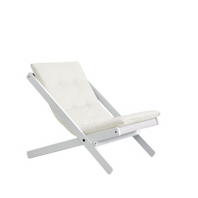 Stuhl Boogie | Weiß & Natur