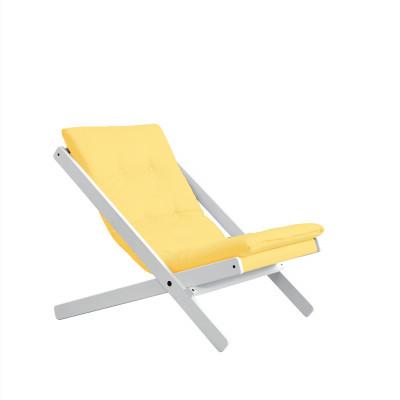 Stuhl Boogie | Weißes Gestell & gelbe Sitzfläche