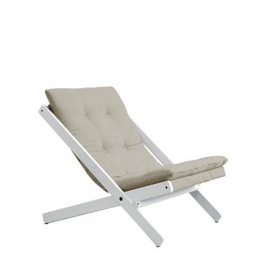 Stuhl Boogie | Weißer Rahmen & Leine Sitzfläche