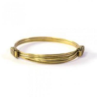 Tembo Elephant Hair Bracelet | Brass