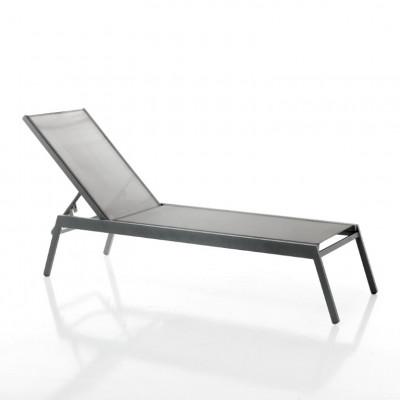 Verstellbarer Sonnenbett Milos | Gray