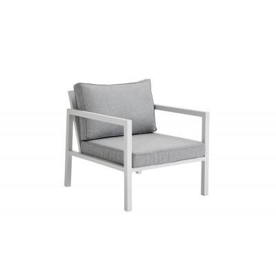 Außensessel Belfort | Weiß & Grau
