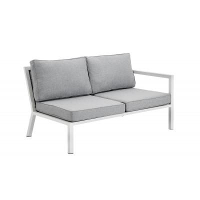 2-Sitzer Außensofa Belfort | Weiß & Grau