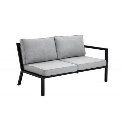 2-Sitzer Außensofa Belfort | Schwarz & Grau