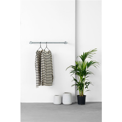 Wall-Mounted Clothes Rail Joey 80 cm I Silver