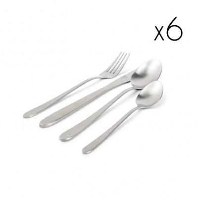 24er-Set Besteck Slim | Silber