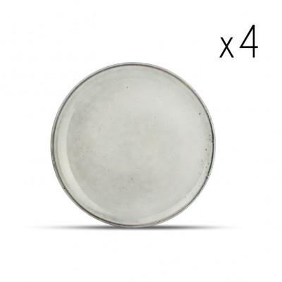 4er-Set Teller Freckles 19,5 cm | Grün