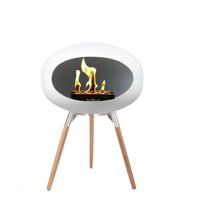 Bio Fireplace Ground Wood White 45 cm | Soap Treated Oak
