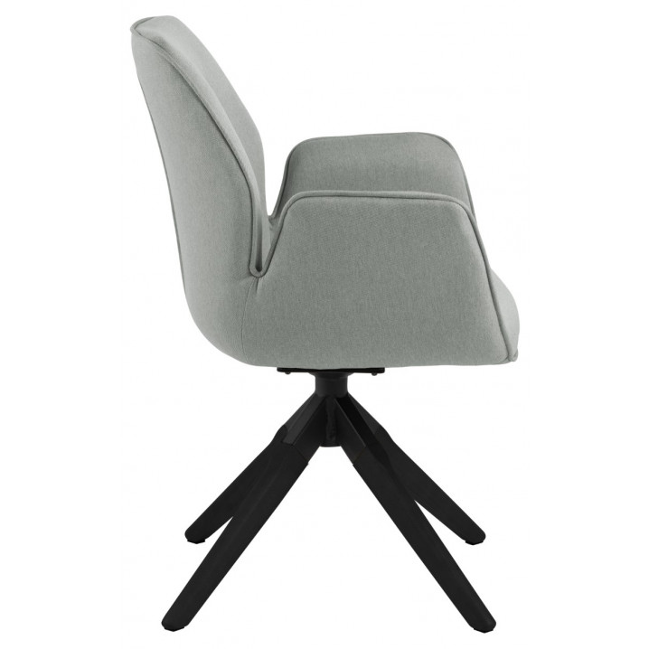 Dining Chair Laura | Light Grey & Black