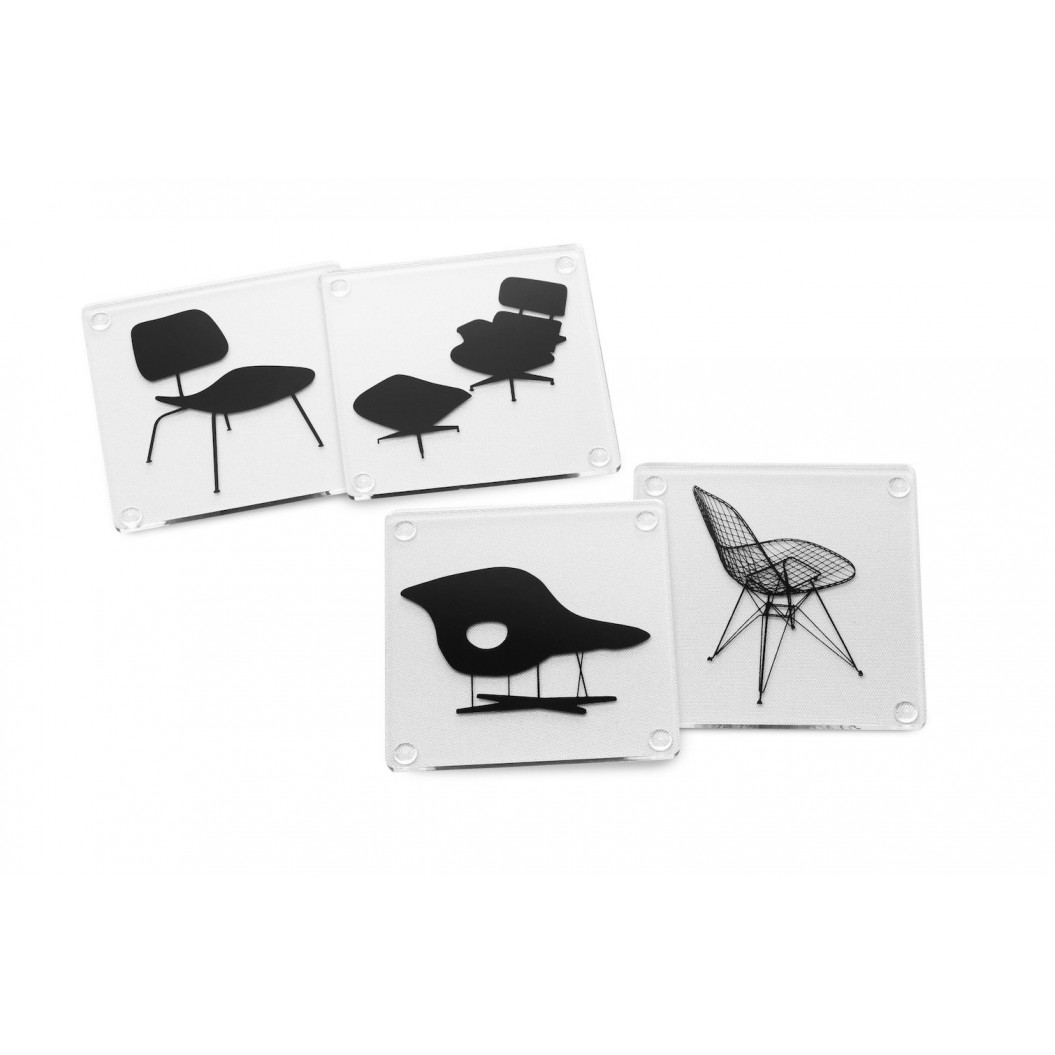 4er-Set Untersetzer  Eames Chair
