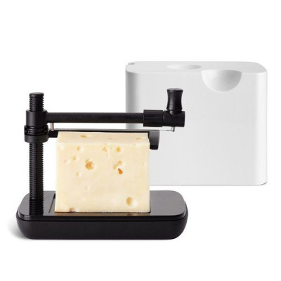 Cheese Box with Slicer | White