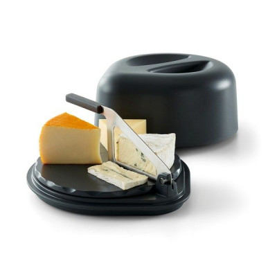 Cheese Serving Box with Knife | Grey
